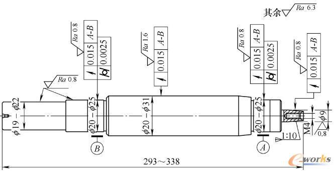 伺服电动机典型零件图