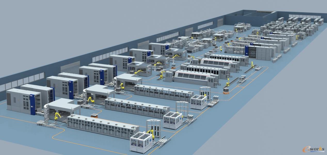 高效PERC电池智能车间虚拟建模
