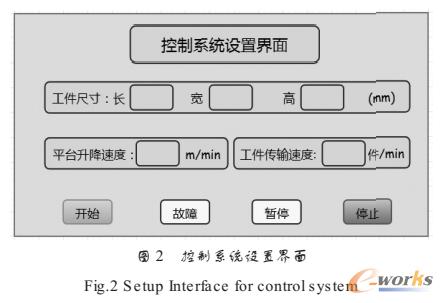 控制系统设置界面