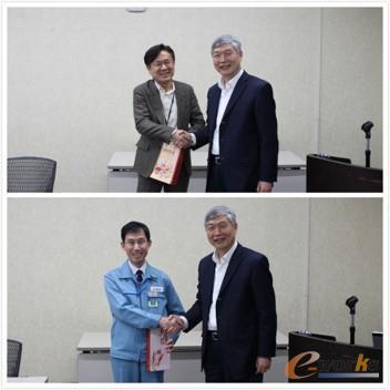 李培根院士向三菱电机领导赠送中国特色的礼物