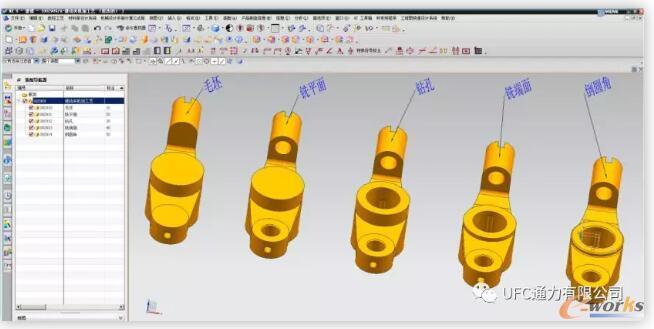 一组工序模型示例