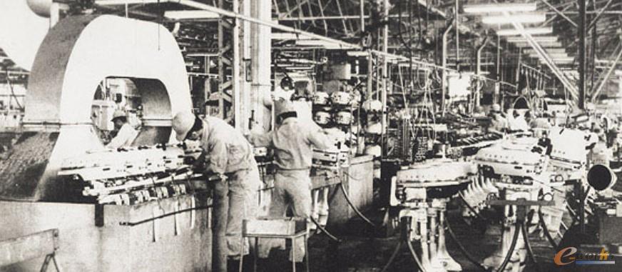 雅马哈最初的船外机加工工厂
