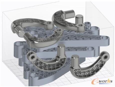 几个零件嵌套在一个印刷托盘里进行组装可以节省时间和材料成本